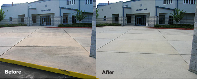 Exterior concrete cleaning from a name you can trust for Outdoor concrete cleaner