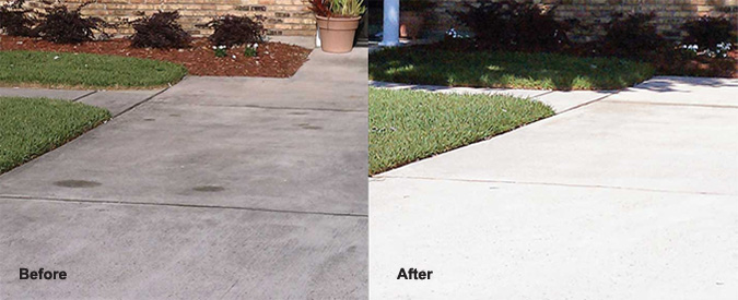 sidewalk and Driveway Cleaning